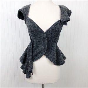 tao COMME des GARÇONS Sleeveless Ruffled Wool Top